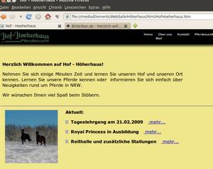 Bildschirmfoto-1 Neue Webseite RG-Hof-Höherhaus  Sauerland Internetpräsenz