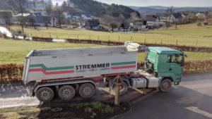 Die Trucks von Stremmer Sand und Kies